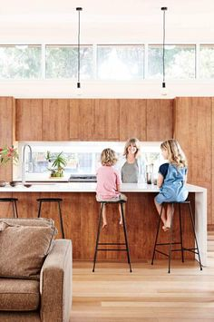 The windows above the kitchen cabinets! Love!