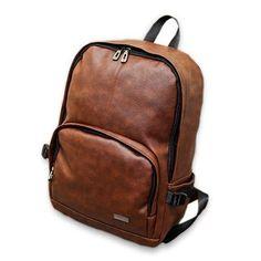 8df62b0e6f New Designer Brand Pu Motorcycle Vintage Leather Backpack School Bags for  Teenagers Men Black Laptop Backpacks Mochila Masculina