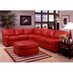 Amish Home Furnishings - Amish Furniture in Daytona Beach Florida :: Sofas :: Albany 2 Piece Curved Sectional with Ottoman Red Leather Sectional, Brown Leather Couch Living Room, Living Room Red, Living Room Decor, Leather Sectionals, Sectional Sofa Sale, Corner Sectional, Sleeper Sectional, Sofa Set