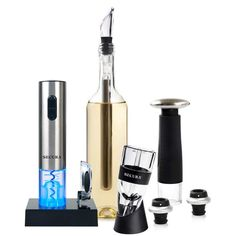 Secura Wine Accessories Set Electric Wine Opener, Wine Foil Cutter, Wine Aerator, Wine Saver Vacuum Pump and 2 Wine Stoppers Gifts For Wine Lovers, Wine Gifts, Lovers Gift, Home Bar Accessories, Electric Wine Opener, Wine Reviews, Wine Wednesday, Vacuum Pump, Wine Fridge
