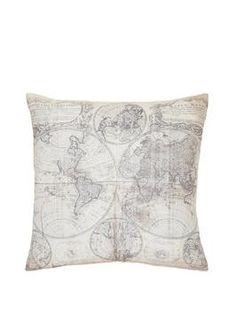 Vintage Map Print Cushion | very.co.uk