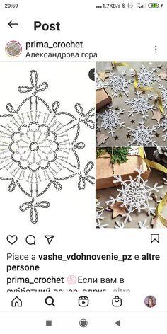 Crochet Star Patterns, Crochet Snowflake Pattern, Crochet Stars, Christmas Crochet Patterns, Crochet Snowflakes, Crochet Mandala, Crochet Motif, Crochet Stitches, Crochet Hooks