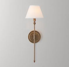 Ellis Swing-Arm Sconce with Shade - Antiqued Brass