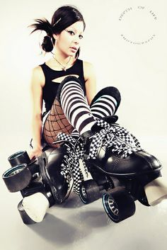 skates. I really wish I would look this sexy when I try roller derby.
