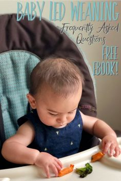 Baby Led Weaning has been one of the greatest blessings for our family, but it has so many misconceptions attached to it. For all the frequently asked questions and how to's of Baby Led Weaning, check out this post! Plus, an e-book with 150 ideas to start your journey off right! #BabyLedWeaning #BLW #crunchymom #parenting