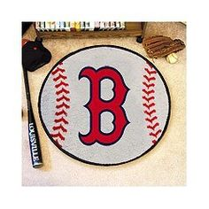 Boston Red Sox Baseball Rug - MLB Round Accent Floor Mat, http://www.amazon.com/dp/B005J6S8VI/ref=cm_sw_r_pi_awd_40qisb03RQ9EF