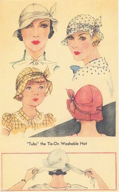Vintage Women's McCall 1930's Summer Hat Millinery Sewing Pattern 112 Copy | eBay