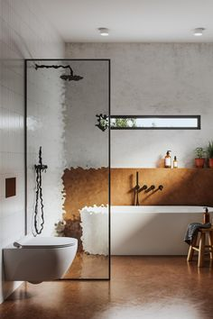 Beautiful bathroom trends to take your bathroom design to a whole new level. White Subway Tile Bathroom, Neutral Bathroom, Subway Tiles, Bathroom Colors, Bathroom Wall Cladding, Bathroom Wall Panels, Bathroom Trends, Bathroom Interior, Bathroom Ideas