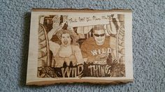 "Nice opportunity! A wood burning I did of a couple getting engaged on ""The Wild Thing"" in MN in 2014."