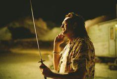 Michael Madsen with the 'Kill Bill' sword.