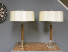 Pair of Mid Century Table Lamps  Lightolier by stonehousevintage