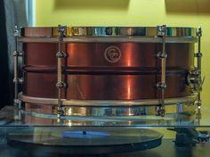 single flange'd copper C & C custom drums