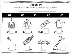 Free r-controlled vowel activities!