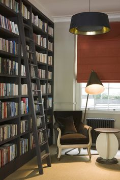 I would love a room big enough to have a huge bookcase like this! Crosland Connaught Sq