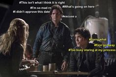 Hahaha :D Bellamy, Clarke and Finn