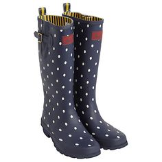 Buy Joules Navy Spot Rubber Wellingtons, Navy/White online at John Lewis