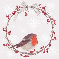 Christmas » Robin - Pack of 8 » Robin - Pack of 8 - Sally Swannell