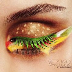 Burger Makeup...who in the world would do this? lol Maybe they went to a cookout and were really excited about it?