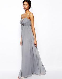 Pin for Later: 50 High Street Bridesmaid Dresses That Will Satisfy Even the Pickiest Bride  ASOS Embellished Bandeau Maxi Dress in Grey (£22, originally £75)