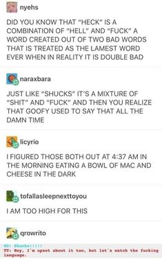 """goofy's laugh, """"hyuck,"""" is a mixture of heck and shucks so goofy is just a hyucking mess Stupid Funny, The Funny, Funny Quotes, Funny Memes, Lol, Funny Tumblr Posts, Tumblr Stuff, Homestuck, Laugh Out Loud"""