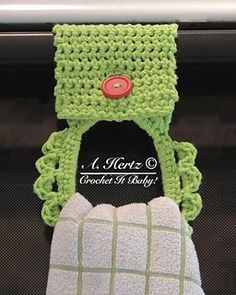 This is a great kitchen towel holder. It is wider than some kitchen towel holders, so it can hold a larger hand towel.