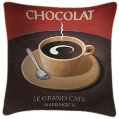 Chocolat Art Print Retro Cushion Martin Wiscombe From Sarah J Home Decor.  $59.95