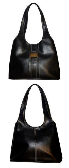 Vintage Nine West purse, 1980's Black Nine West shoulder bag, Black leather purse, Genuine leather shoulder bag, Nine West top handle bag