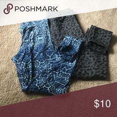 Leggings Cheetah print • blue leggings are thinner material • grey leggings are heavier material Pants Leggings