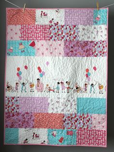 Baby Girl Quilt Sarah Jane Quilt-Children At Play Quilt Girl