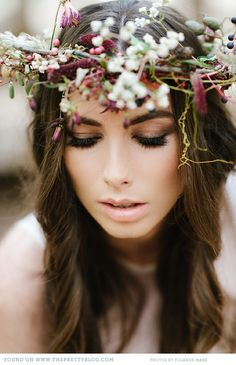 Rustic forest floral crown
