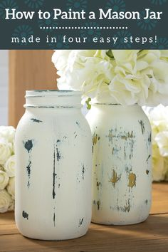Mason Jar Crafts, Mason Jar Diy, Tree Drawings Pencil, Distressed Mason Jars, Colored Mason Jars, Bazaar Crafts, Chalk Paint Colors, Pinterest Crafts, Painted Mason Jars