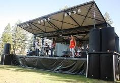 mobile stage attachment for curtain side trailer - Google Search