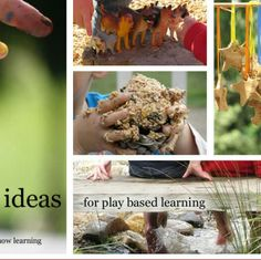 This pin offers great examples of play based activities that can be taken outside. These are practical and require little equipment. I believe play based learning is they way in which children in kindergarten should be learning, through experimentation and exploring their environment.  http://www.playbasedlearning.com.au/category/numeracy/