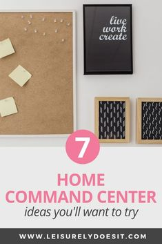 You'll love these home command center ideas if you need a drop zone for all the items that clutter your kitchen counters. Parent Command Center, Command Center Kitchen, Command Centers, Organizing Paperwork, Organizing Your Home, Organization Hacks, Organization Ideas, Organizing Tips, Organising