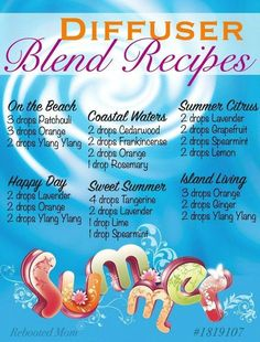 Summer Diffuser Blends for Essential Oils
