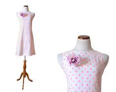 1960s Dress / Pink Polka Dot Dress / Mod Dress by MinxouriVintage, $33.00