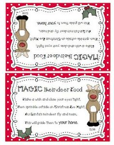 Reindeer Treat! This is great. Our boys got a kick out of feeding the reindeer last year. -so much fun