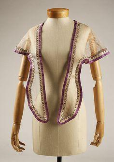 Fichu  Date: mid-19th century Culture: American or European Medium: piña cloth civil war era