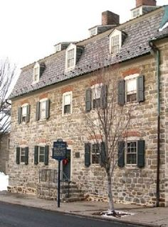 Moravian Sisters' House.  Built in 1742, it was first the Brothers' House until 1748.  It was the home of the unmarried Moravian women. It was expanded in 1751/1752, and again in 1773.