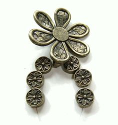 Jewelry Ensemble Metal Floral Pendant and by FloridaQuarry on Etsy