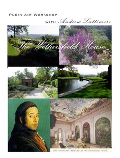 Art Workshop with Lattimore Atelier; 4 days of plein air painting in Hudson Valley and tour of Wethersfield House home to the only Pietro Annigoni Frescos in the U.S. Block Island, Hudson Valley, Art Education, Fresco, Workshop, Tours, Artwork, Painting, Atelier