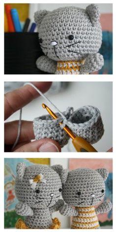 Cutie Cat Amigurumi Crochet Pattern