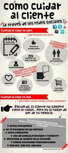 Cómo mimar a tus clientes en las redes sociales http://elblogdemariangelesber.wordpress.com/2014/02/07/infografia-clientes-redes-sociales/