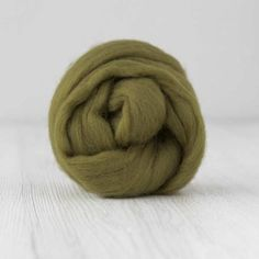 DHG Merino Wool Combed Top / Roving - Olive Green #olivegreenroving  #merinoroving #spinningrove #woolferspinning #feltingwool #wooltop #woolroving #australianmerino Nuno Felting, Needle Felting, Drop Spindle, Wool Felt, Olive Green, Merino Wool, Weaving, Spinning, Vibrant