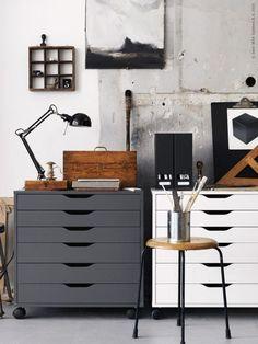 Ispirazione Ikea: ufficio in stile industriale | Ikea Inspiration: Industrial Style Home Office