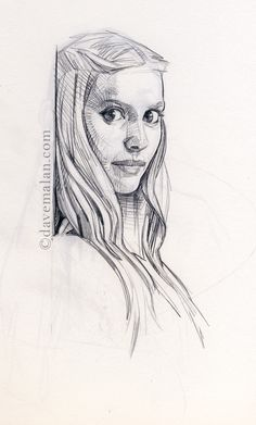 Brilliant Anyway: Sketch #62. Girl Sketch / Drawing