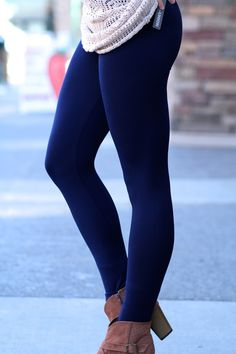 I'd love fleece-lined leggings in black and navy.