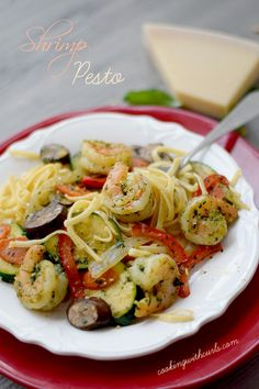 Shrimp Pesto /cookingwithcurls.com