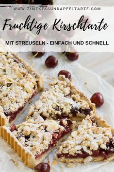 Cherry tart with sprinkles - Cake & Co, Cherry Tart, Love Is Sweet, Summer Recipes, Baked Goods, Sprinkles, Sweet Tooth, Bakery