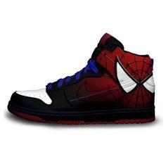 Ultimate Spiderman Nike High Tops